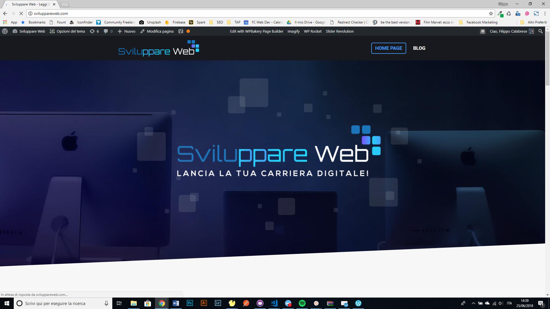 Sito web per progetto di blogging – Sviluppare Web