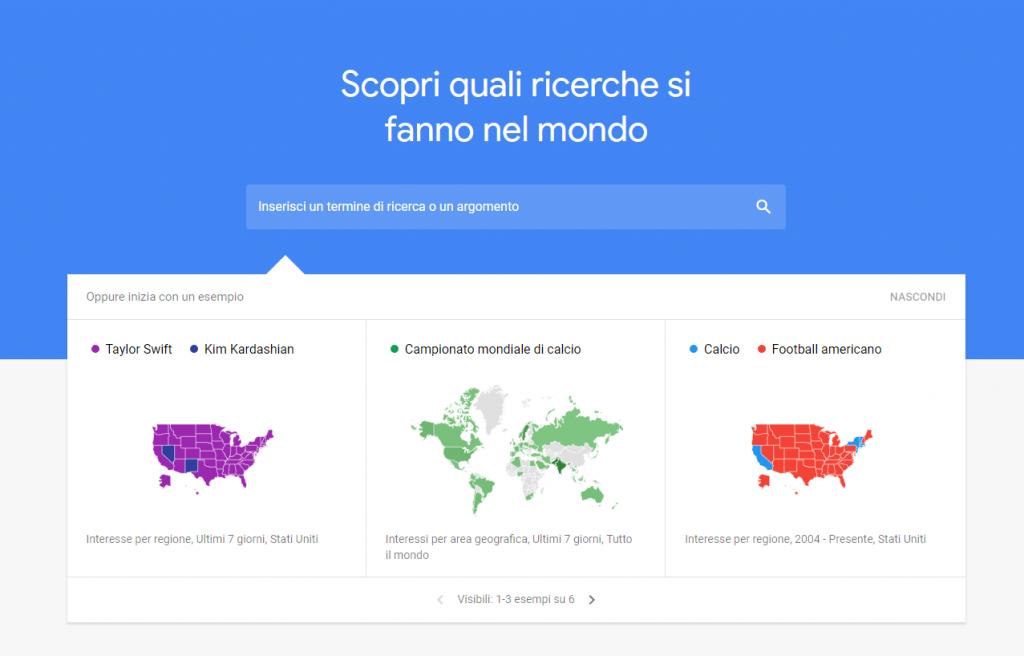 Nicchia di mercato con Google Trends